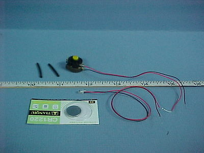 Dollhouse Miniature 1220 Battery Light kit - One LED -Pure White LED Light