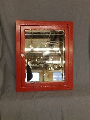 Vintage Industrial Metal Recessed Mount Medicine Cabinet Beveled Mirror 5281-15