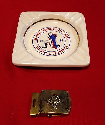 Boy Scouts of America Vintage Solid BRASS Belt Buckle & Ash Tray