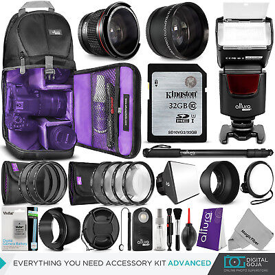 Nikon D3400 / D3300 Accessories Bundle with Lens, Filter, Bag, Battery & Flash