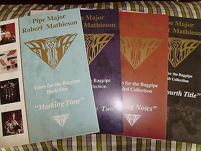 P/m Robert Mathieson Music Book For Bagpipe Collection Choice Of Volumes 1 To 4