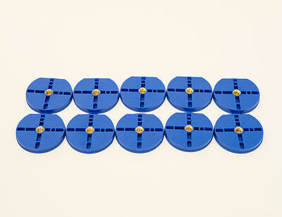 New Dental Plastic Disposable Round  Articulating Mounting Plates Blue