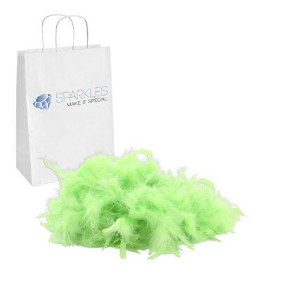 2yd Apple Green Feather Boa Birthday Bachelorette Party Wedding Special Event