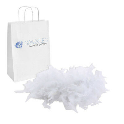2yd White Feather Boa Birthday Bachelorette Party Wedding Special Event Decor