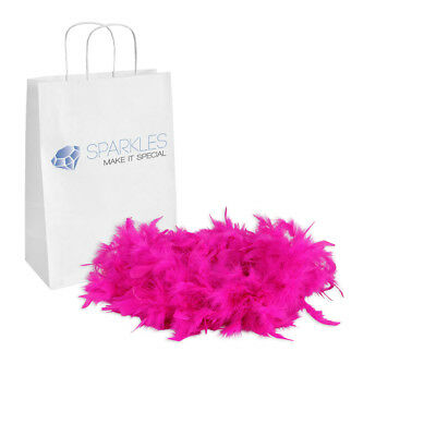 2yd Fuchsia Feather Boa Birthday Bachelorette Party Wedding Special Event Decor