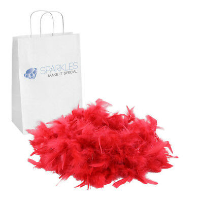 2yd Red Feather Boa Birthday Bachelorette Party Wedding Special Event Decor