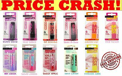 Maybelline Baby Lips Lip Balm Winter Delight, Dr.Rescue, Electro, Valentine Kiss