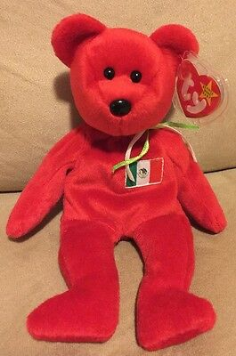 896ca7c50ea OSITO  THE MEXICAN Bear TY Beanie Baby - original NO number on tush ...