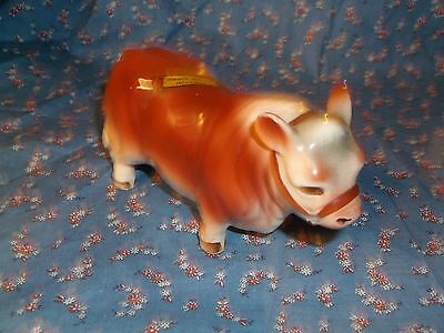 Souvenir Wisconsin State Fair Milwaukee Cow Brown White  About 5 3/8 Inch Long