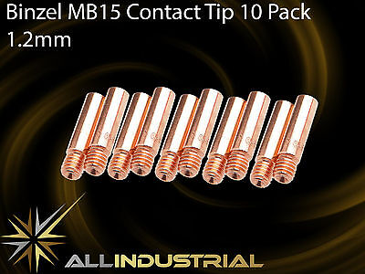 MIG Contact Tip - MB15 24KD - 1.2mm- Binzel Style - M6 x 6mm x 25mm  (10 Pack)