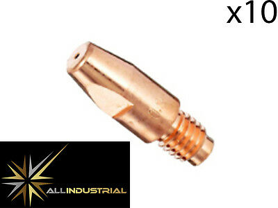 MIG Contact Tip - MB36 - 1.0mm- Binzel Style - M8 x 10mm x 1.0mm (10 Pack)