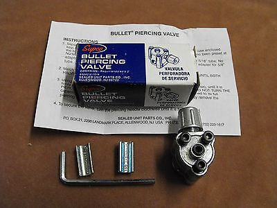 "Rf002: Supco Bullet Piercing Valve For 1/4"", 5/16"", 3/8"" Tubing Genuine"