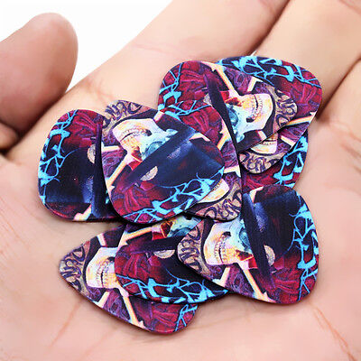 New 10pcs 1mm Musical Accessories Guitar Picks Plectrums