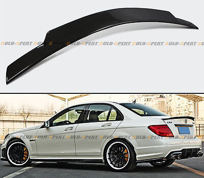 For 08-2014 Mercedes Benz W204 C63 Amg Carbon Fiber Extended Trunk Spoiler Wing