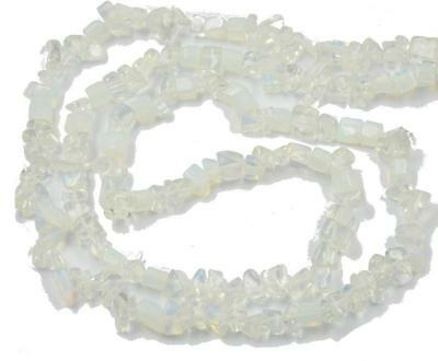 Natural 5-8mm Freeform Chips White Opal Gemsone Loose Beads 1 Strand 34""
