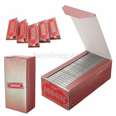 1 Box 2500 Leaves Moon Red Smoking Cigarette Hemp Rolling Papers 70*36mm