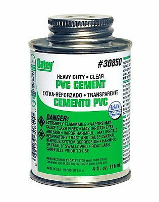 OATEY 30850 4oz Heavy Duty Clear cement for PVC pipe and fittings