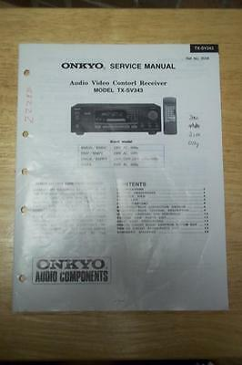 onkyo service manual for the tx 904 tx 906 tuner amplifier amp rh picclick com Onkyo TX 8511 Manual Onkyo TX Sr 75