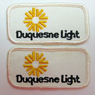 TWO Duquesne Light Company Patches vtg Pittsburgh Pennsylvania Electric Service
