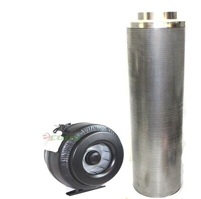 """8"""" x 42"""" Carbon Air Filter Pro Combo 8 Inch Inline Fan Inline Exhaust Hydroponic"""