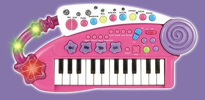 Vinsani Pink Piano Children Carry Along Keyboard Musical Instrument Play Toy