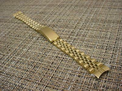 Beautiful Speidel Stainless Steel 13mm NOS Gold Tone Tapered Watch  Band W3736