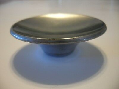 "Vintage 1950's  2-1/2"" Satin CHROME DRAWER KNOB Cabinet Door Pull Concave Handle"