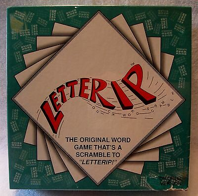 LETTERIP Word Game NEW  Dreamer's Publishing VINTAGE 1994 Ages 8+  ZZ-9