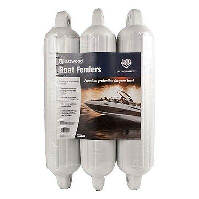 Attwood 3 Pack Boat Fenders White