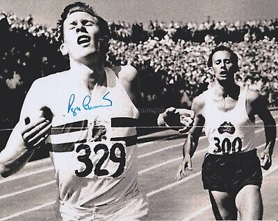Roger Bannister Hand Signed 8x10 Photo, Undedicated, Four Minute Mile