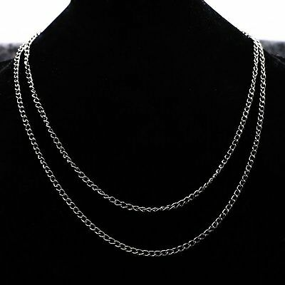Jewelry Necklace Antique Bronze Cable Chains Lobster Clasp 80cm Long For Woman