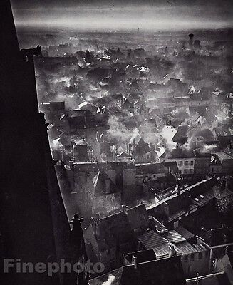 1946/68 Vintage CHARTRES WINTER City France Photo Art By BRASSAI 11x14 Frame Rdy