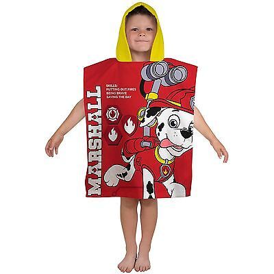 Paw Patrol Rescue Hooded Towel Poncho Kids For Beach, Bath Free P+P
