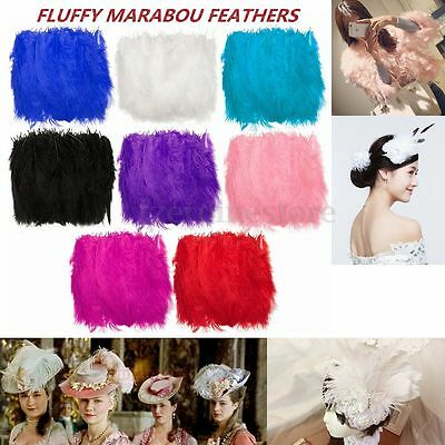 50pcs FLUFFY MARABOU FEATHERS Party Wedding Trim Trimming Embellishments Decor
