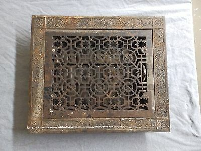 Antique Cast Iron Heat Grate Vent Register Surround Vent Vintage Old 5295-15