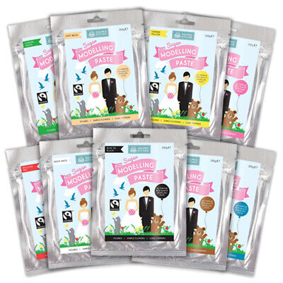 Sugar Modelling Paste by Squires Kitchen - 200g ALL COLOURS for Cake Modelling