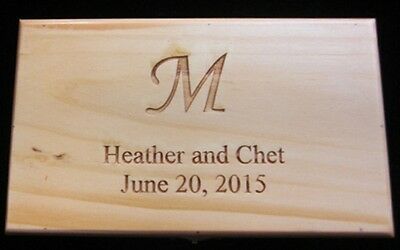 Laser Engraved Wooden Bride's File Box (Personalized,Block)