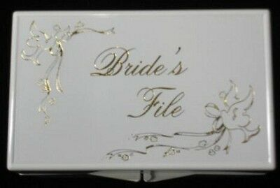 Gold Doves and Ribbons Bride's File Box