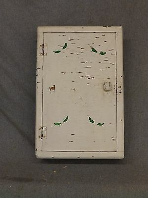 Small Antique Wood Surface Wall mount Medicine Cabinet Cupboard Old Vtg 5298-15 • CAD $86.54