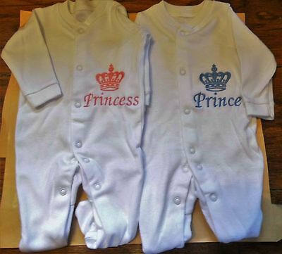 Embroidered Personalised Baby Grow/Sleep Suit  (New)