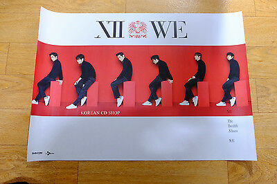 Shinhwa Vol. 12 - WE (Thanks Edition)  *Official POSTER* KPOP