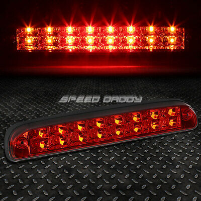 For 1999-2016 Ford Super Duty Red Rear Third 3Rd Brake Light Lamp 2-Row Led