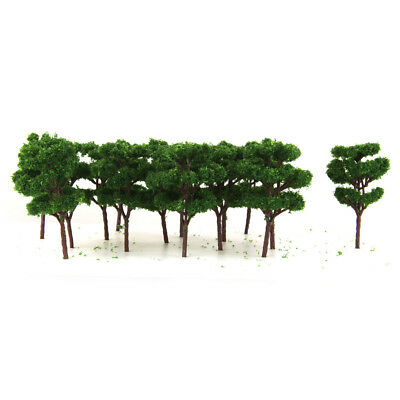 25pcs Z Scale 1:200 Model Trees for Railroad House Park Street Train Layout
