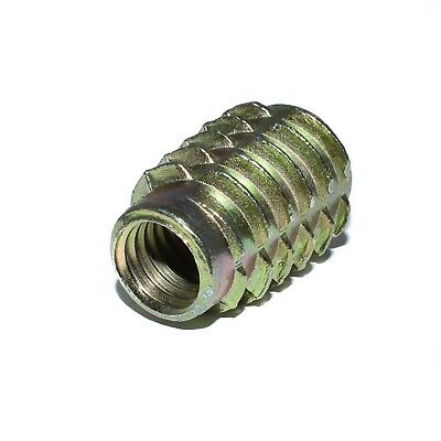 M4 M5 M6 M8 Hex Drive Screw In Threaded Insert Bushing For Wood Zinc (Type E)