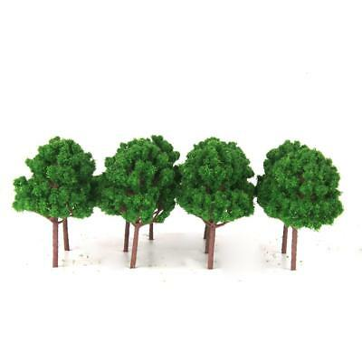 10pcs Model Branched Trees for Railway Park Street Scenery HO Scale Green