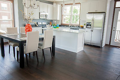 "6"" Brushed French White Oak Stout Engineered Floating Wood Flooring Plank Sample"