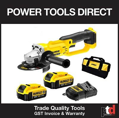 New Dewalt 18V Angle Grinder Cordless 125Mm Dcg412M2 Kit - 4Amp Batteries