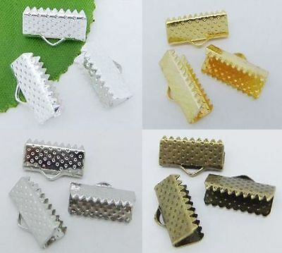 Clip Tips Cord Crimp Ends Bead Cap Craft 6mm,8mm,10mm,13mm,16mm,20mm,25mm,30mm