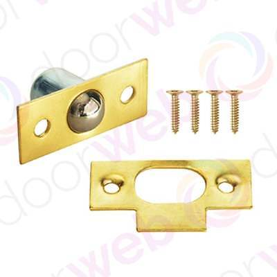 BALES CATCH Cupboard Cabinet Door Roller Ball Bearing Latch Spring BRASS 19mm