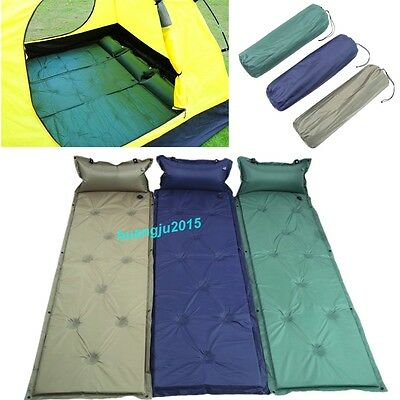 Single Self Inflating Camping Roll Mat Inflatable  Bed Sleeping Mattress Pad+Bag